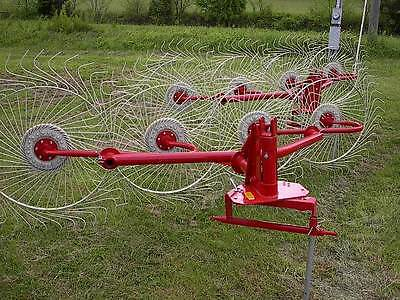 New Enrossi 4 Wheel Hay Rake for 3 Point Hitch, Rakes 8 Ft.