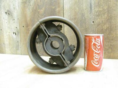 Antique Hit Miss Gas Steam Engine Line Shaft Flat Belt Pulley 3.5x7 2 Piece