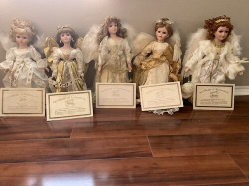 Hertiage Signature Collection 2000-2005 collectable angel dolls w/ cerit.