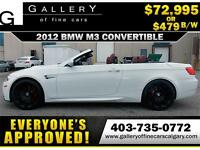2012 BMW M3 CONVERTIBLE $479 bi-weekly APPLY NOW DRIVE NOW