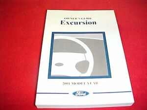 2001 ORIGINAL FORD EXCURSION TRUCK OWNERS MANUAL SERVICE GUIDE BOOK 01 OEM PAPER