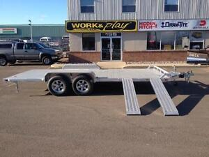 "New 2016 Aluma 82"" x 18' Aluminum Equipment Trailer (10,400lbs)"