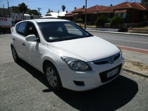 2010 Hyundai i30 FD MY10 SX White 5 Speed Manual Hatchback West Perth Perth City Area Preview