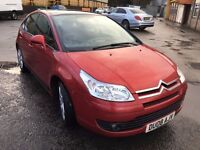 2008 CITROEN C4 1.6 HDI, BRAND NEW MOT, IDEAL FAMILY CAR