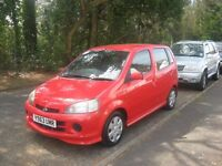 2001 DAIHATSU YRV 1.3 HATCH 50000/MILES TAX/ YEARS MOT HISTORY POSS /PART X