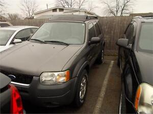2003 Ford Escape XLT RUNS AND DRIVES AS-TRADED AS-IS 4X4