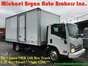 2013 ISUZU NRR 16FT BOX TRUCK W/RAMP *DIESEL* GREAT WINTER PRICE