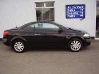 Black Renault Megane 2006 Diesel 1.6 Vvt Dynamique Convertible