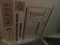 Hinged deflector shower panel for sale (new)