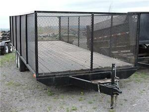 Remorque DO  8'X20' grillagée/DO 8X20 Trailer w Mesh sides