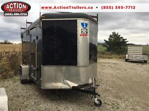 USED 6X12 CARGO TRAILER - BARN DOORS - V-NOSE - GREAT DEAL $1899