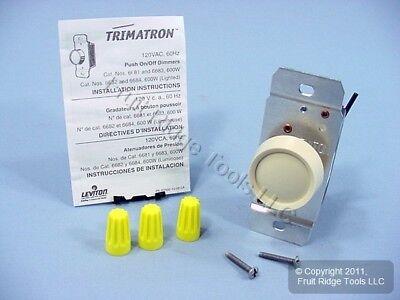 Leviton Trimatron Ivory 3-Way Rotary Push ON/OFF Light Dimmer Switch 600W 6683-I