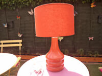 Village at Home Burnt Ortange Table Lamp