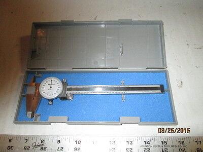 Machinist Mill Lathe Mitutoyo Dial Caliper Gage Gauge In Hard Case O