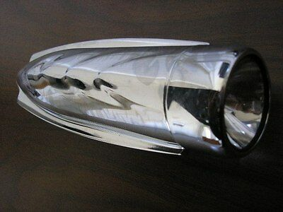 Schwinn chrome bicycle headlight delta style torpedo bike head light NOT WORKING