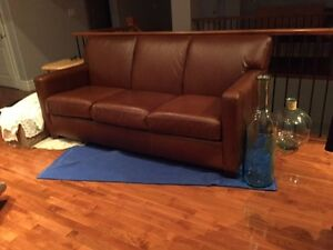 LEATHER COUCH $4000 NEW