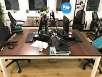 Excellent condition double desks and chairs
