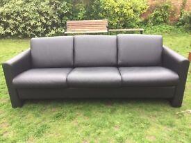 Black Three Seat Sofa