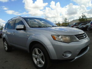 2007 Mitsubishi Outlander XLS-V6-LEATHER-SUNROOF-DVD-HDTV-NAVI