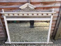 Antique Mirror - Distressed cream with fancy top