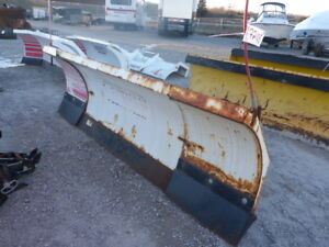 Assortment Of Snow Plow Blades & Pushers Selling By Auction