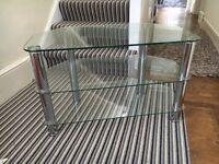 Glass 3 Shelf TV Stand - Large