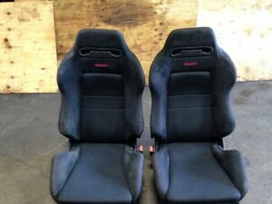 BLACK RECARO DC2 EK9 HONDA CIVIC INTEGRA FRONT PAIR SEATS