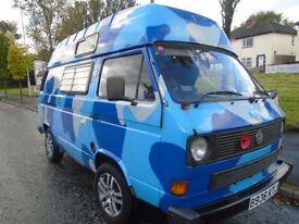 Vw Transporter T25 Auto sleeper/Campervan, 1984 (B) reg, 112k, Blue, 12 months Mot