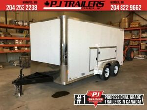 RC 7'x16' -Tool Box Enclosed Trailer