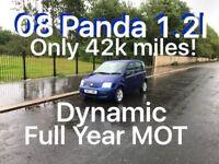 42k miles! £1475 2008 Fiat Panda 1.2l* like fiesta punto yaris micra corsa c1 aygo 107 getz polo