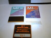 RETRO BARGAIN / M1 KORG Keyboard SOUND CARDS 3 pairs