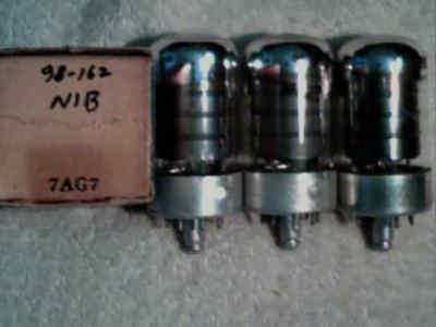 Tube 4ea  7AG7 1NIB tstd amp radio amplifier ham