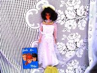BRUNETTE MS AMERICA 70 BARBIE DOLL,YELLOW OUTFIT