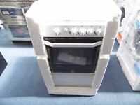 EX DISPLAY INDESIT WHITE SINGLE GAS OVEN W/GAS HOB REF:11466