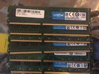 Crucial 8GB PC3-12800 DDR3 DDR3L-1600 UDIMM PC Memory