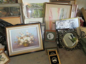Assorted Pictures and Frames.