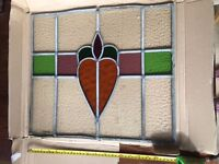 A Stained Glass Panel taken from a large house built in 1896