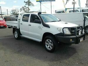 2008 Toyota Hilux KUN26R MY08 SR White 5 Speed Manual Cab Chassis Archerfield Brisbane South West Preview