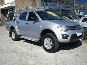 2013 Mitsubishi Triton MN MY14 Update GLX (4x4) Silver 4 Speed Automatic 4x4 Double Cab Utility Wangara Wanneroo Area Preview