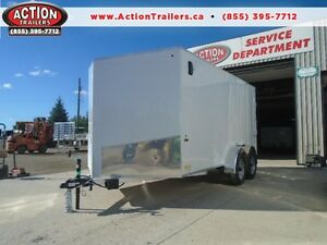 LOWEST PRICED 7X14' ALL ALUMINUM CARGO TRAILER W/RAMP DOOR WOW! London Ontario image 1