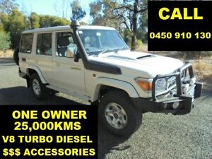 2013 Toyota Landcruiser VDJ76R MY12 Update GXL (4x4) White 5 Speed Manual Wagon Ellenbrook Swan Area Preview