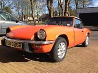 1977 Triumph Spitfire 1500 restoration project, new Minilite type alloy wheels and tyres