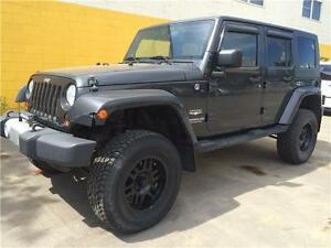 2010 Jeep Wrangler Unlimited Sahara Lifted Aftermarket Wheels!