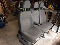 Ford Transit front seats with base.