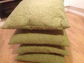 4 X Cushions ( Olive Green)