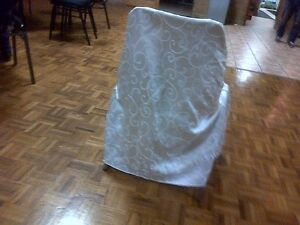 High-Quality White Satin Chair Covers W/Laces- Excellent Shape!! Kitchener / Waterloo Kitchener Area image 4