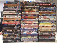 90 DVDs (Some blu-ray)
