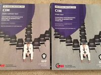 CIM (Chartered Institute of Marketing) official study books (£10 for both)