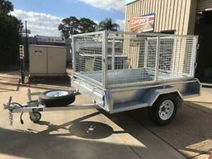 7x5 EAGLE GALVANISED TRAILER WITH CAGE Para Hills West Salisbury Area Preview