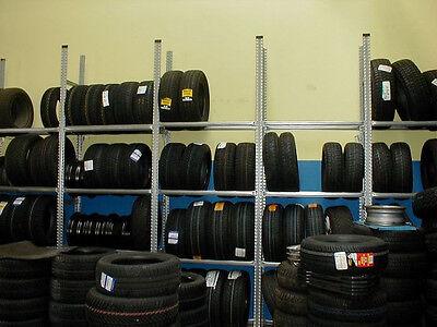(41,73€/lfm)11,00 lfm Reifenregal NEU Lagerregal für 108 Reifen Regalhöhe 1972mm